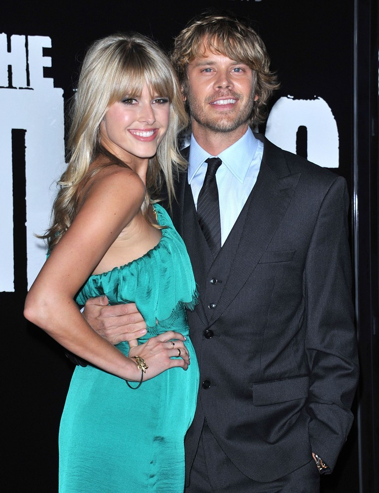 Sarah Wright, Eric Christian Olsen<br>Los Angeles Premiere of The Thing